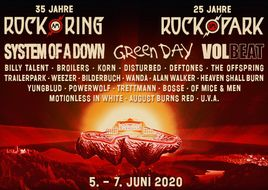 BÄM: System Of A Down, Green Day, Volbeat u. v. m. bei ROCK AM RING & ROCK IM PARK 2020!