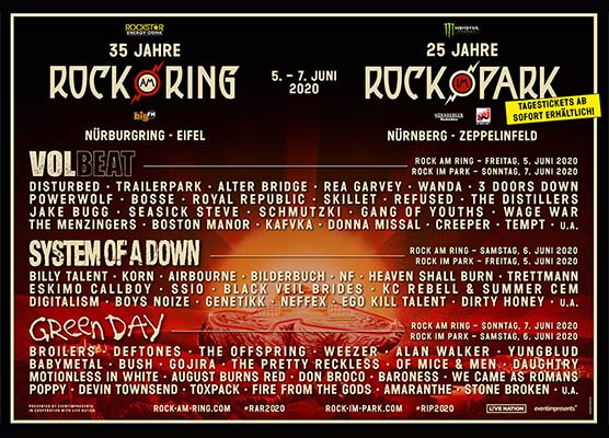 Line Up Rock Am Ring 2021