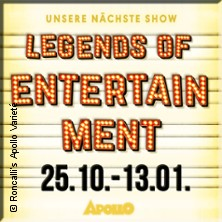 Roncalli's Apollo Varieté: Legends of Entertainment in DÜSSELDORF * Roncalli's Apollo Variete,