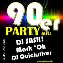 Night of the 90s DJs mit DJ Sash!, DJ Mark 'Oh, DJ Quicksilver u.v.m.