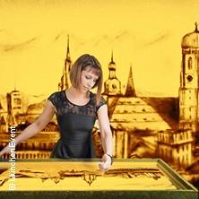 München - Die Weltstadt mit Herz in Sand gemalt