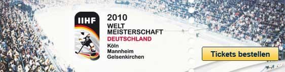 IIHF Eishockey Weltmeisterschaft 2010 - Tickets bei Eventim!