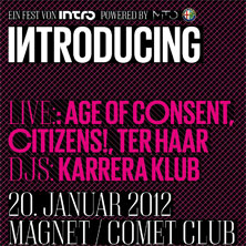 Introducing w/ Age Of Consent, Citizens, Ter Haar - Tickets