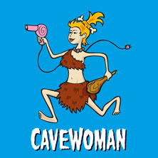Cavewoman in Hamburg