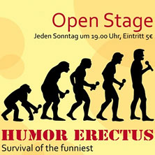 Karten für Comedy-Club - Kookaburra: Open Stage - Humor Erectus in Berlin