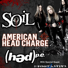 Soil + American Head Charge + (hed)p.e.