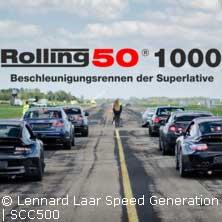 Beschleunigungsrennen Rolling50 1000
