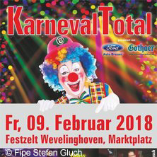 Karneval Total in GREVENBROICH, 09.02.2018 - Tickets -