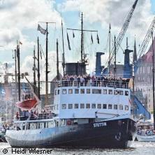 Dampf-Eisbrecher STETTIN e.V. 2019 in FLENSBURG * Flensburg Schiffsbrücke,