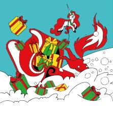 Die Steintor-Weihnachtsrevue 2018: Herr Fuchs und das Weihnachts-Einhorn in HALLE / SAALE * Steintor-Variete Halle,