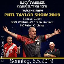 Phil Taylor Dart Show in Hannover 2019 - Mit BDO Weltmeister Glen Durant
