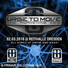 Urge To Move - The Awakening 2018 in DRESDEN * REITHALLE STRASSE E,