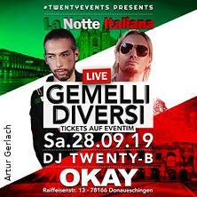 Gemelli Diversi Tour 2019