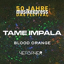 Tame Impala, Blood Orange, Yeasayer: 50 Jahre Musikexpress ? Das Festival in BERLIN * Max-Schmeling-Halle