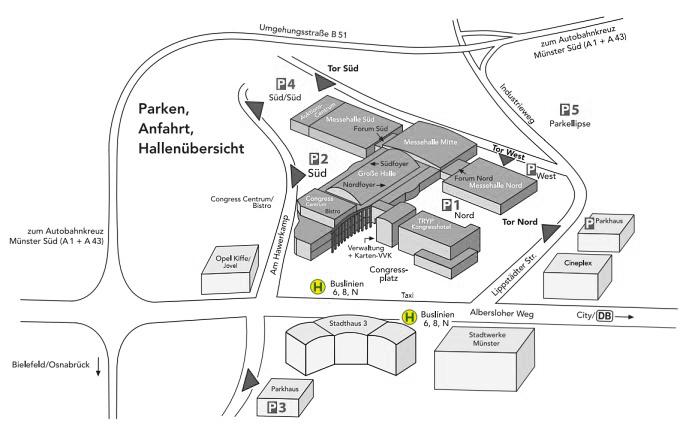 messe congress centrum halle m nsterland anfahrt. Black Bedroom Furniture Sets. Home Design Ideas