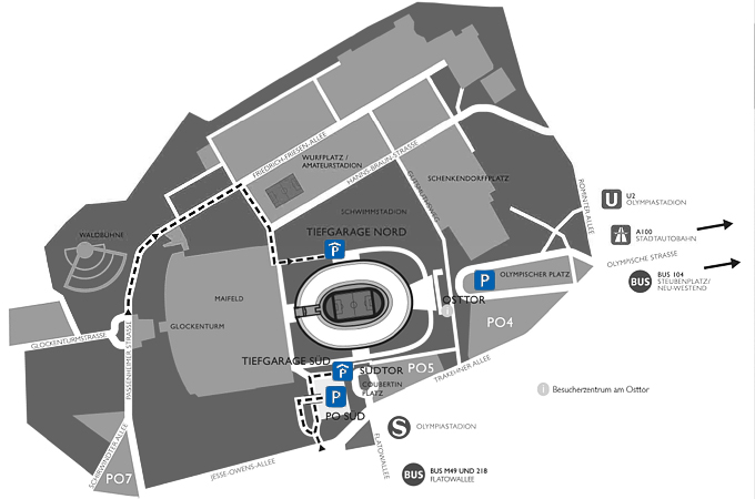 Parken Olympiastadion Berlin