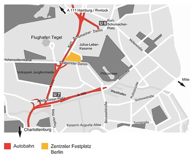 Zentraler festplatz berlin anfahrt for Tegel flughafen anfahrt
