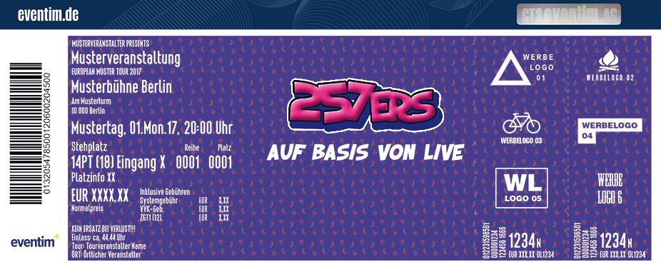Karten für 257ers: Auf Basis von Live 2018 in Münster