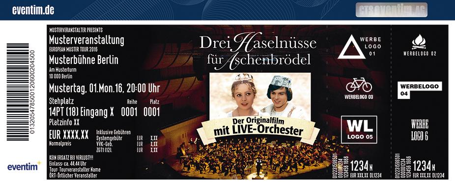 Karten für Drei Haselnüsse für Aschenbrödel -  Der Originalfilm mit Live-Orchester in Chemnitz
