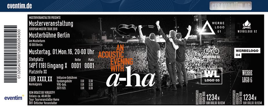 A-Ha Karten für ihre Events 2017