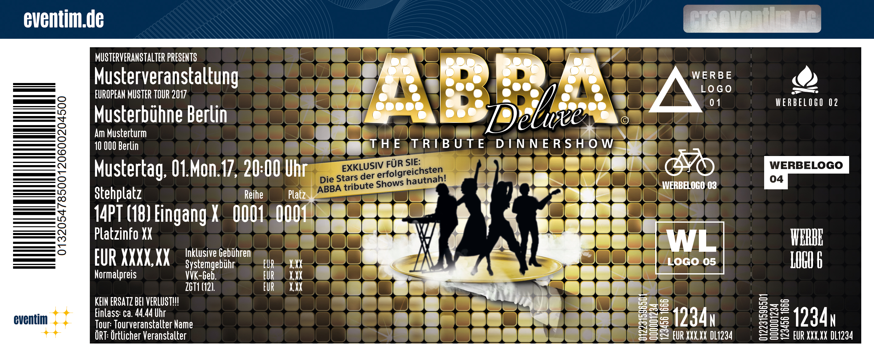 Karten für ABBA Deluxe - The Tribute Dinnershow in Frankfurt