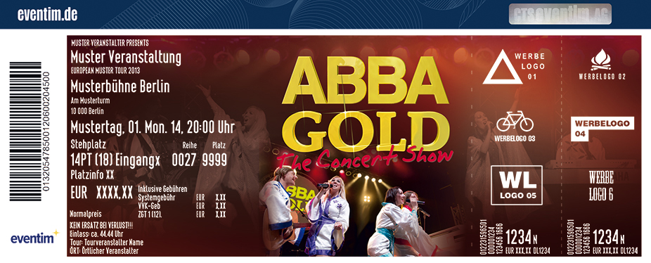 Karten für ABBA Gold The Concert Show in Halle / Saale