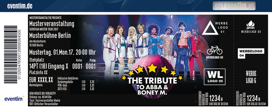 Karten für The Tribute to ABBA & Boney M in Berlin