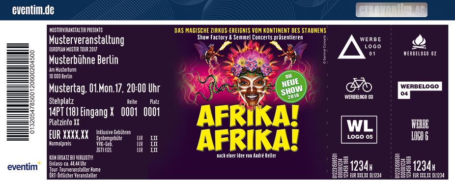 Karten für Afrika! Afrika! - Die neue Show 2018 in Frankfurt