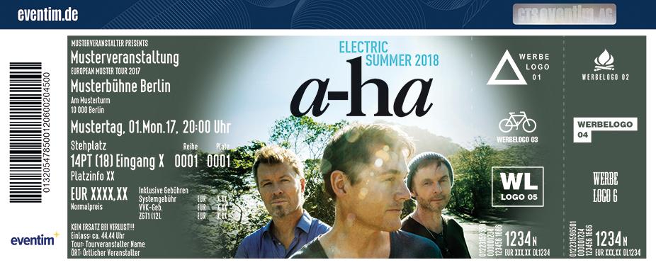 A-Ha Karten für ihre Events 2018