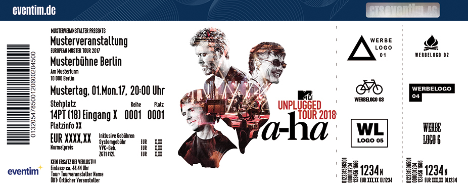 Karten für a-ha - MTV Unplugged Tour 2018 in Berlin