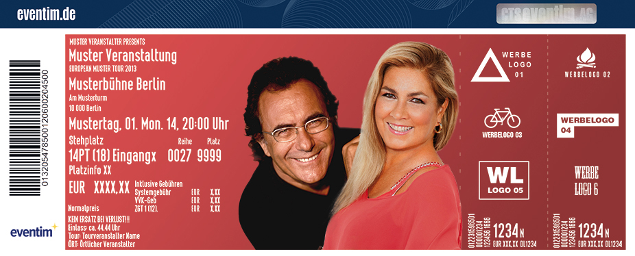 Karten für Al Bano & Romina Power: Comeback-Tournee 2018 in Hamburg