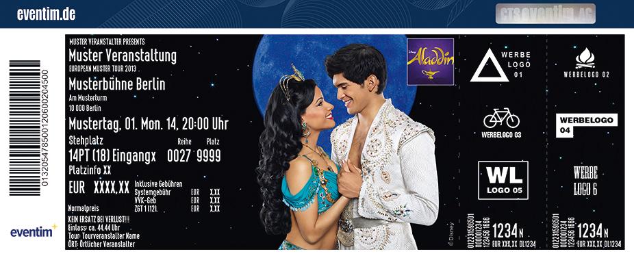 Disneys Aladdin Karten für ihre Events 2018