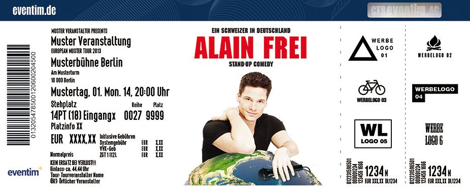 Alain Frei Karten für ihre Events 2017