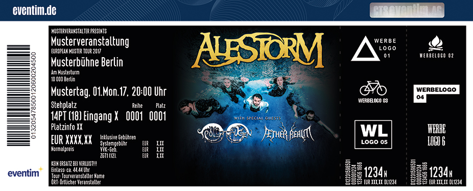 Karten für Alestorm: No Grave But The Sea Tour in Hannover