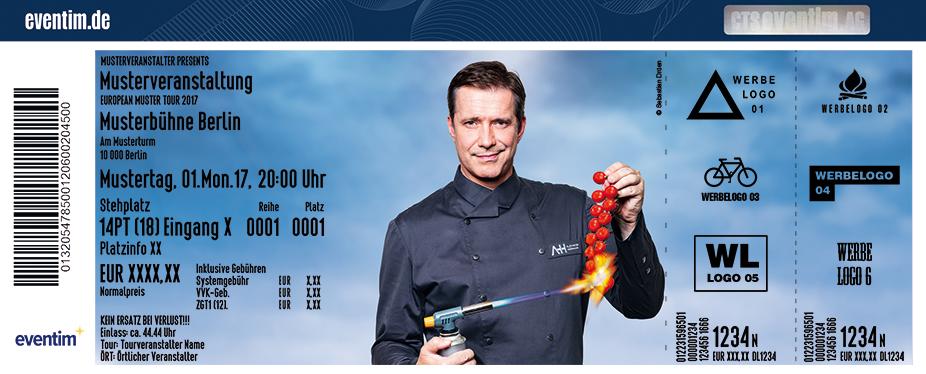 Karten für Alexander Herrmann: Schnell mal was Gutes - Die Koch-Late-Night-Show in Hof / Saale