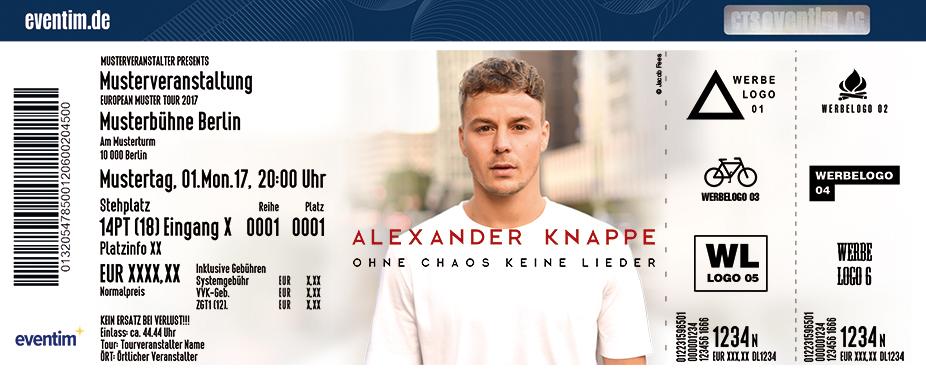 Karten für Alexander Knappe: Ohne Chaos keine Lieder - Herbst Tour 2018 in Freiburg