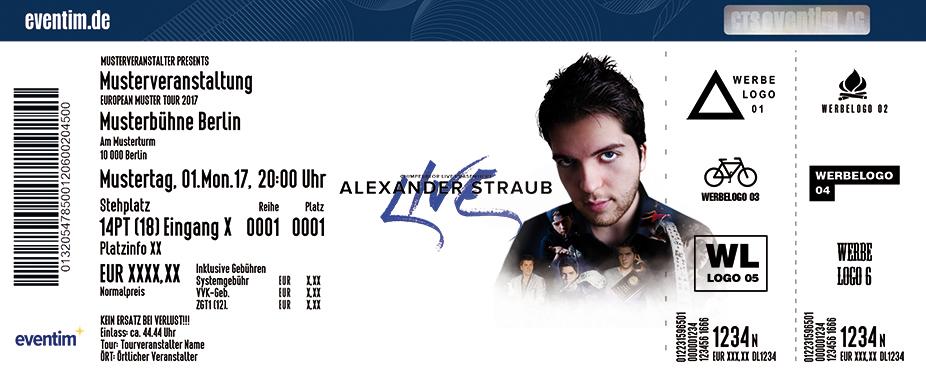 Alexander Straub Karten für ihre Events 2017