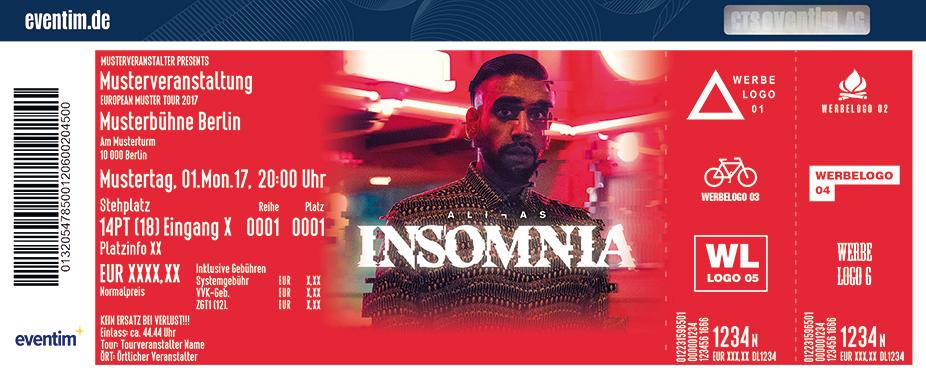 Karten für Ali As: Insomnia Tour 2017 in Nürnberg