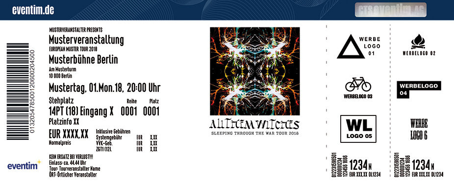 All Them Witches Karten für ihre Events 2018