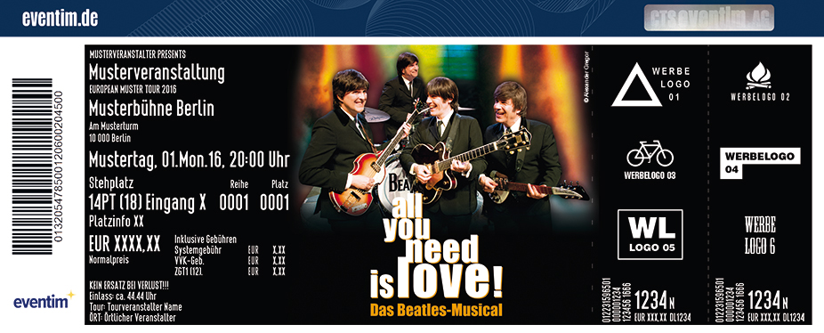 All You Need Is Love - Das Beatles Musical Karten für ihre Events 2017