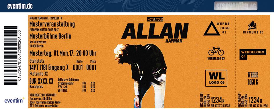 Allan Rayman Karten für ihre Events 2017
