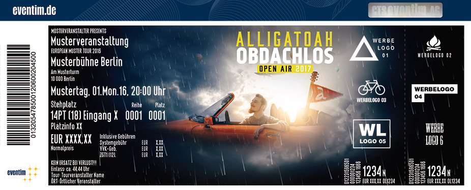 Karten für Alligatoah: Obdachlos Open Air 2017 in Hamburg