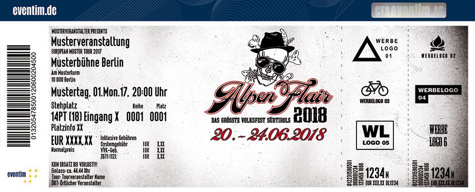 Alpen Flair Festival Karten für ihre Events 2018