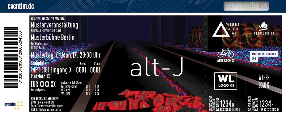 Alt-J Karten für ihre Events 2017