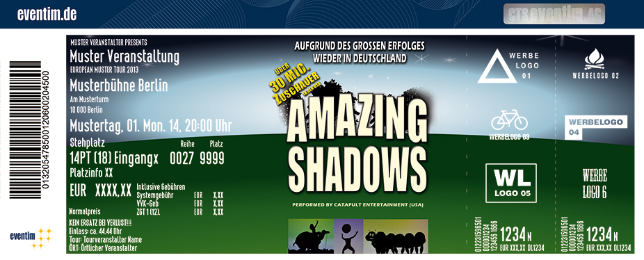 Karten für Amazing Shadows - performed by Catapult Entertainment in Gross-Umstadt