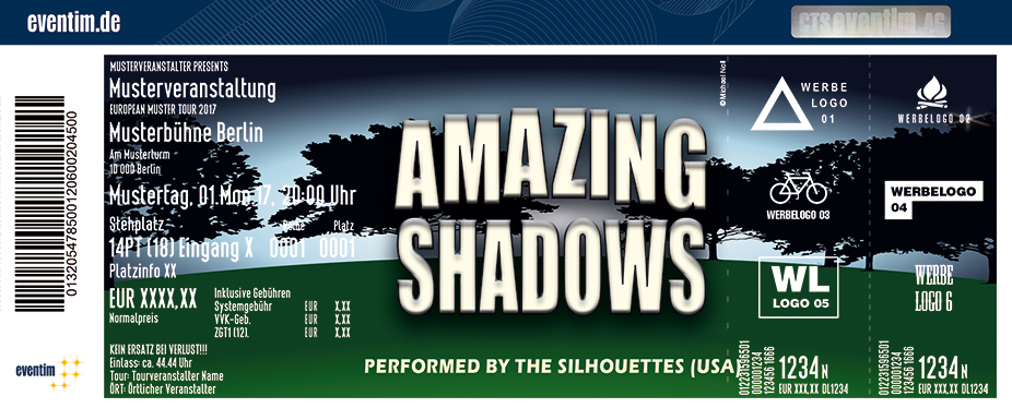 Karten für Amazing Shadows performed by The Silhouettes (USA) in Flensburg