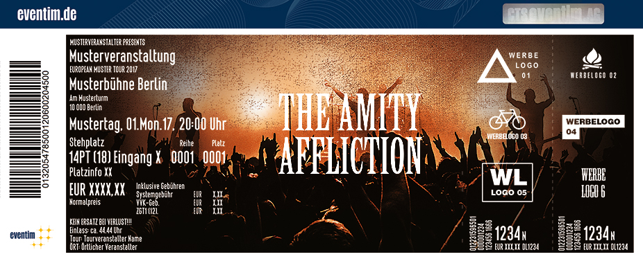 The Amity Affliction Karten für ihre Events 2017