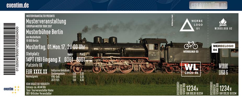 Karten für Nachmittagsfahrt: Augsburg - Utting / Ammersee - Dampfbahn in Augsburg