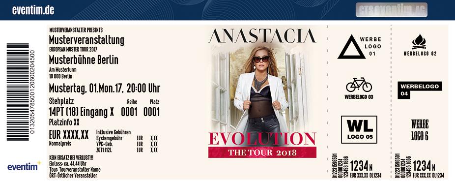 Karten für Anastacia: The Evolution Tour 2018 in Essen