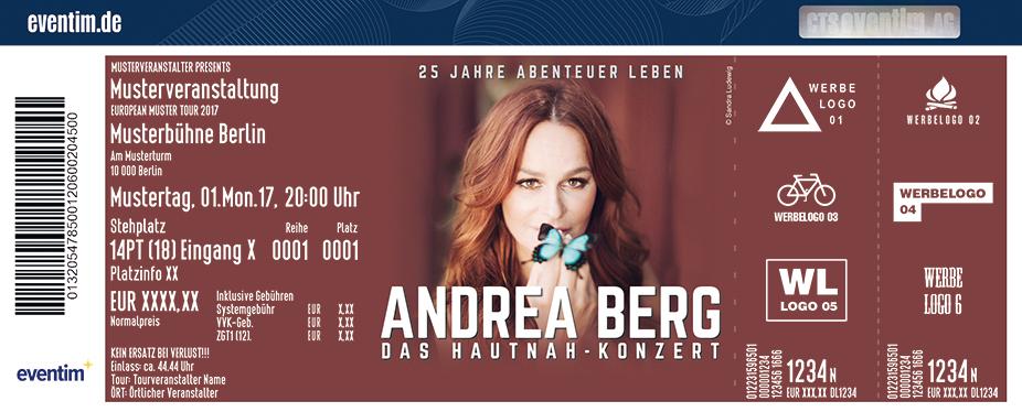 Karten für Andrea Berg - Hautnah 2017 in Siegen